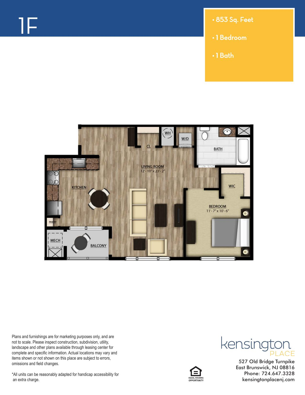 Kensington Place Apartment Floor Plan 1F