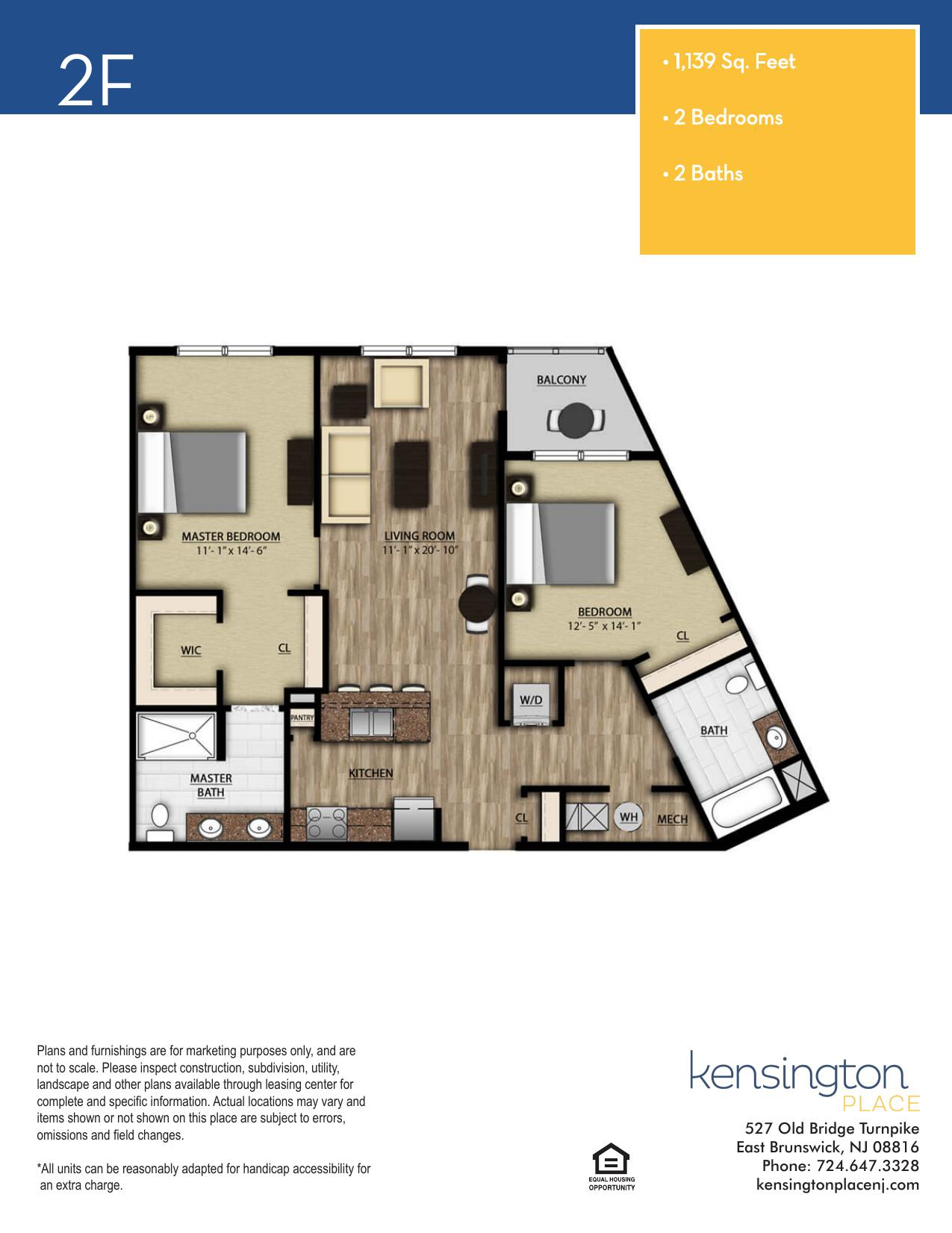 Kensington Place Apartment Floor Plan 2F