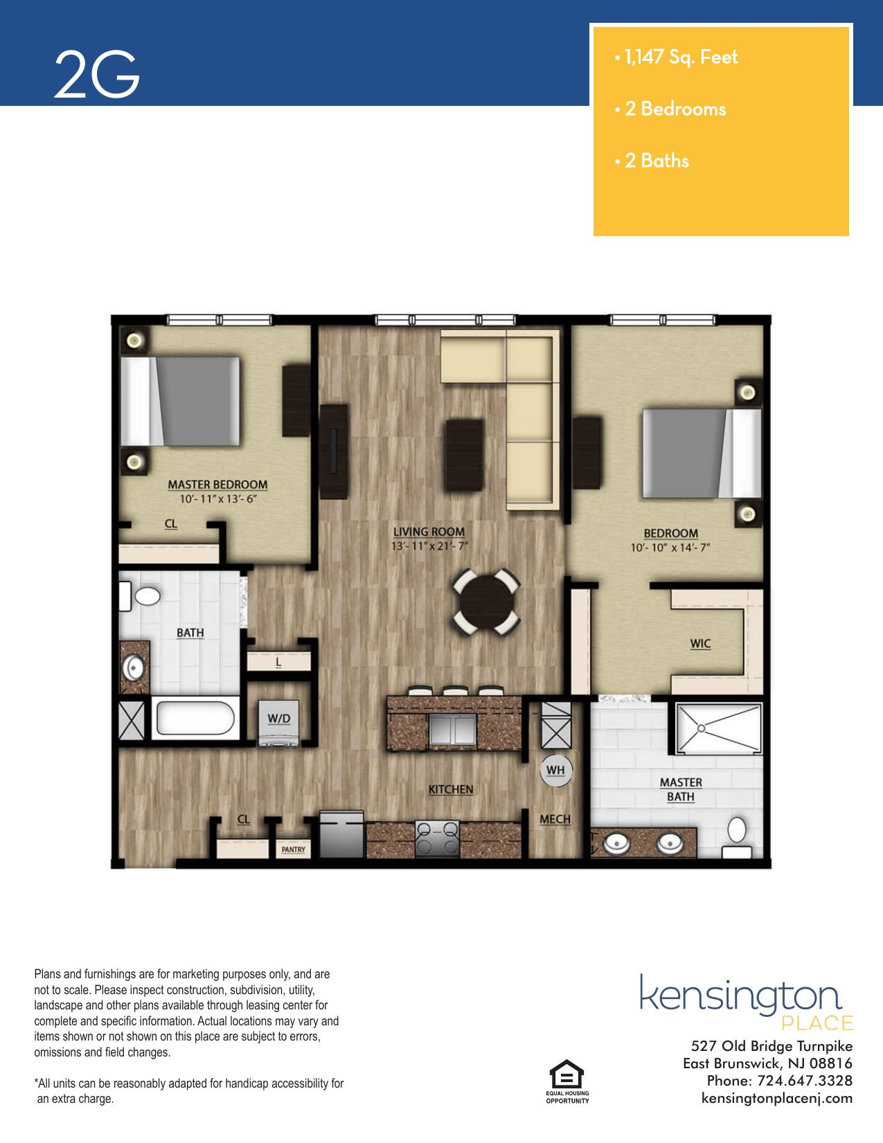 Kensington Place Apartment Floor Plan 2G