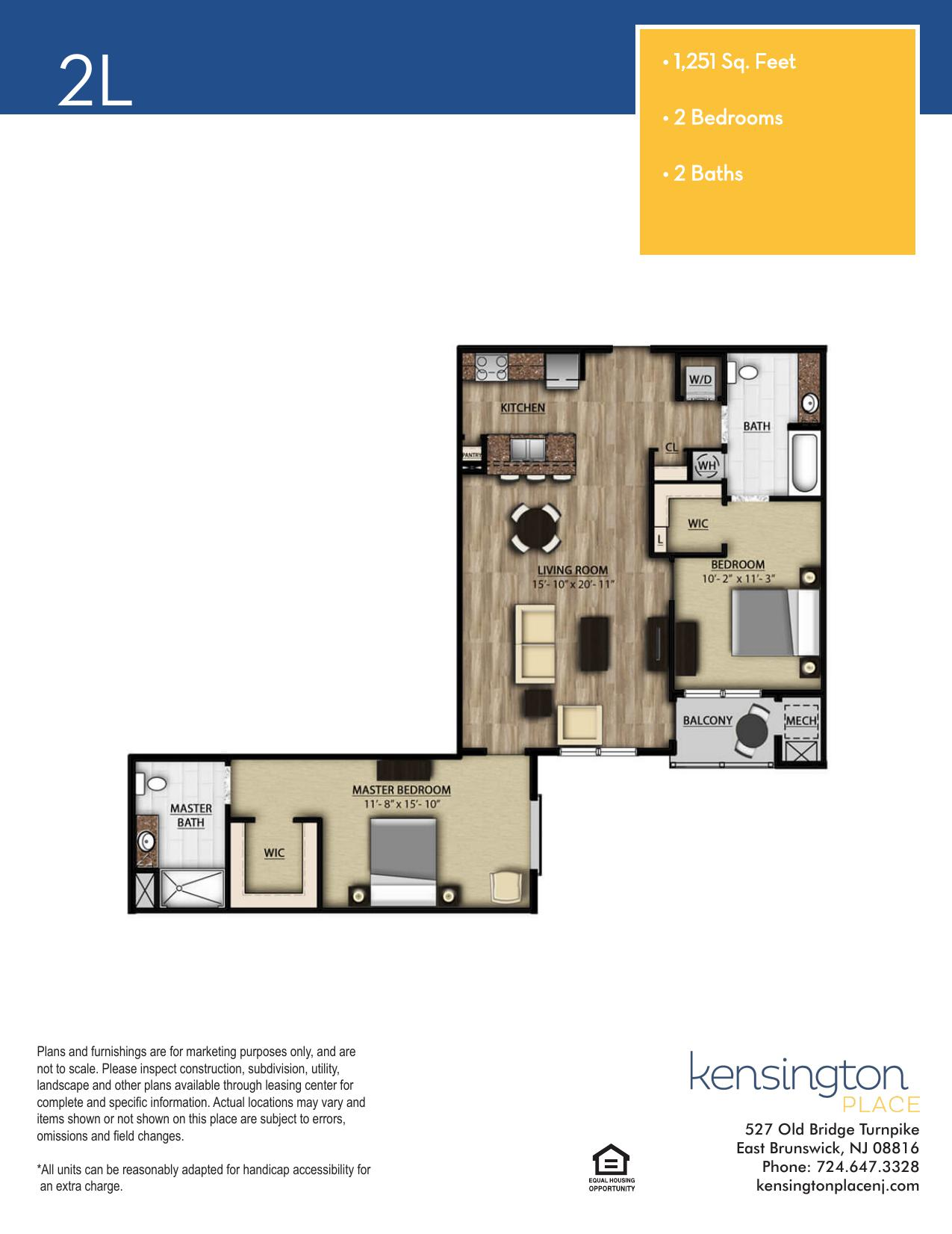 Kensington Place Apartment Floor Plan 2L