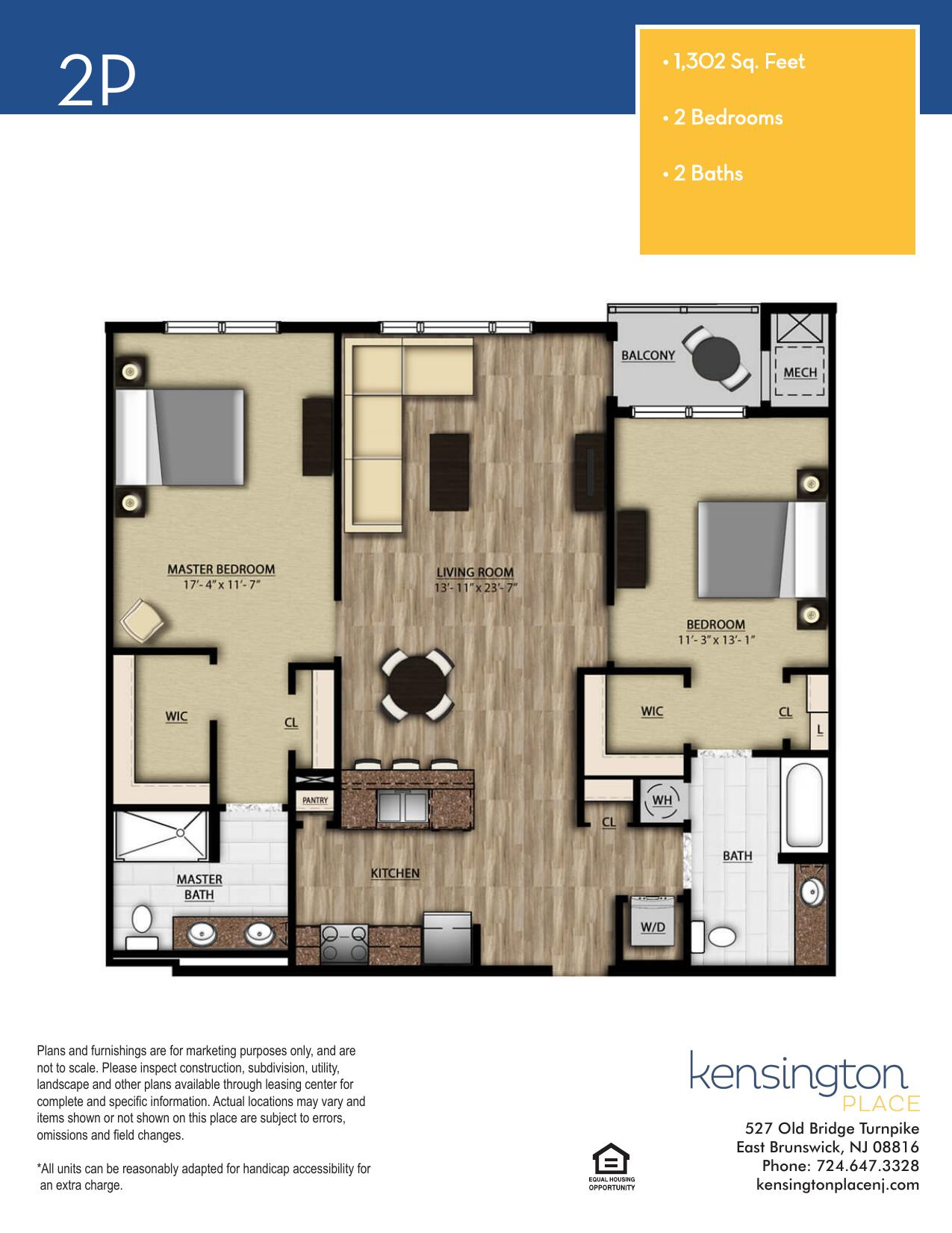 Kensington Place Apartment Floor Plan 2P